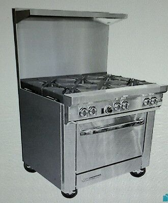 """Southbend S36D 36"""" Gas Range with 6 Burners and 1 Standard Oven"""