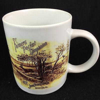 Vintage John Deere Coffee Mug 1892 Farmers Pocket Companion 26th Annual Edition