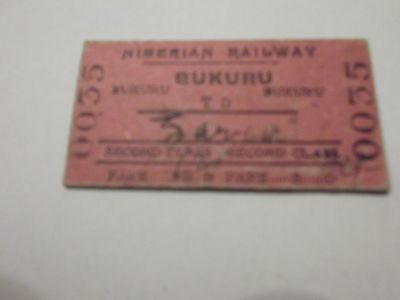 Nigerian Railways Ticket possibly from early 20th century as shown (061)