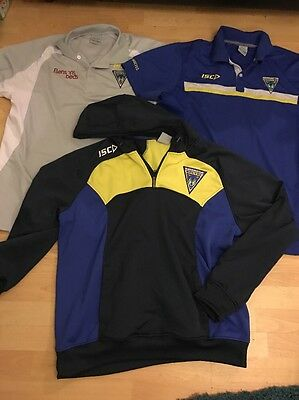 3 Warrington Wolves Tops , 2 Polo Shirts One Hoodie Size XXXL