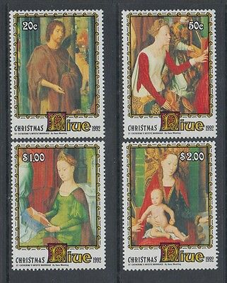 XG-AI060 NIUE IND - Paintings, 1992 Christmas, Memling MNH Set