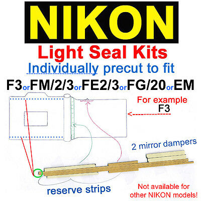 Light seal kit  !!will be precut ONLY for!! F3 or FM/2/3 or FE/2 or FG/20 or EM