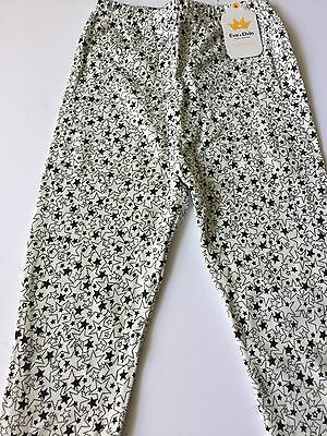 Black And White Star Leggings Boy Girl Size XL 3T 4T Long Pants Toddler Clothes