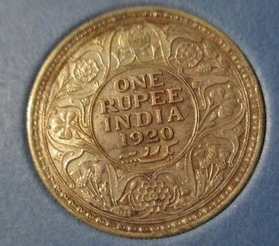 1920 India 1 one rupee coin