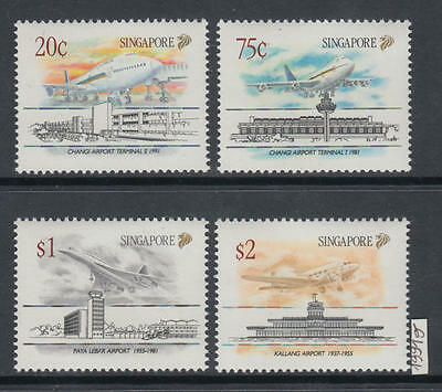 XG-AI330 SINGAPORE IND - Aviation, 1991 Airplanes, Airports MNH Set