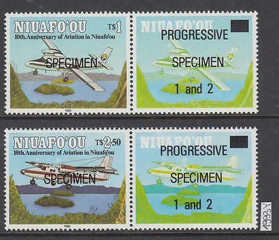 XG-AI380 NIUAFO'OU - Aviation, 1993 Airplanes, Progressive Specimen Ovp. MNH Set