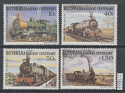 XG-AI490 BOTSWANA - Trains, 1993 Railways, Locomotives, 4 Values MNH Set