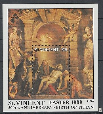 XG-AI730 ST VINCENT - Paintings, 1989 Easter, Titian Anniversary MNH Sheet