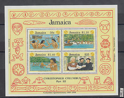 XG-AI800 JAMAICA IND - Columbus, 1991 Americas Discovery Anniversary MNH Sheet
