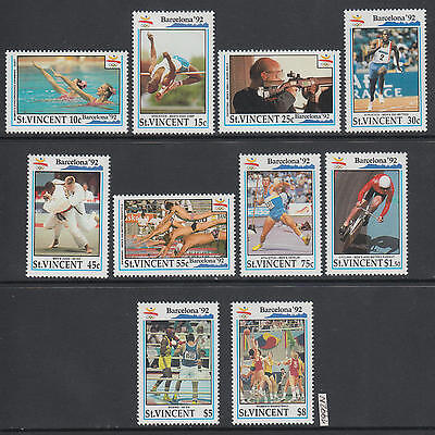 XG-AI820 ST VINCENT - Olympic Games, 1992 Spain Barcelona '92, Cycling MNH Set