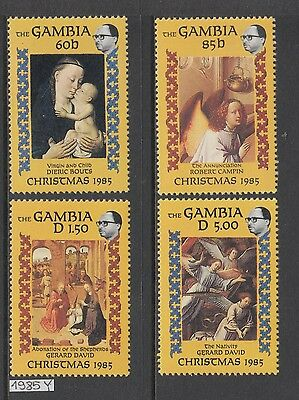 XG-AJ420 GAMBIA IND - Paintings, 1985 Christmas, 4 Values MNH Set