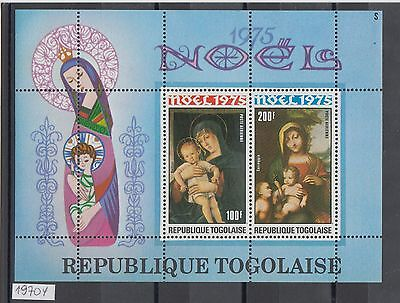 XG-AJ580 TOGO IND - Paintings, 1975 Christmas, Madonna And Child MNH Sheet