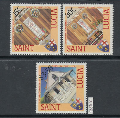 XG-AJ710 ST LUCIA IND - Religion, 1988 Methodist Church Centenary MNH Set