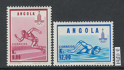 XG-AJ950 ANGOLA IND - Olympic Games, 1980 Russia Moscow '80 MNH Set