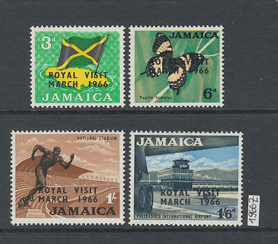 XG-AK550 JAMAICA IND - Royal Visit, 1966 Overprinted, Flags, Butterflies MNH Set