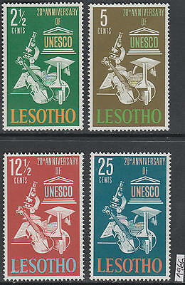 XG-AK640 LESOTHO - Unesco, 1966 Anniversary, Music, 4 Values MNH Set