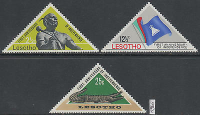XG-AK660 LESOTHO - Independence, 1965 1St Anniversary, 3 Values MNH Set