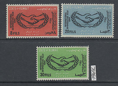 XG-AK780 KUWAIT IND - Intl. Co-Operation Year, 1965 3 Values MNH Set