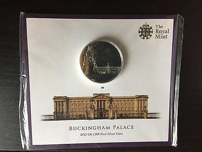The Royal Mint 2015 Buckingham Palace £100 Face Value Fine Silver Coin