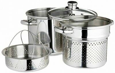 Kitchen Craft World Of Flavours Italian Stainless Steel 4 L Pasta Pot With 20