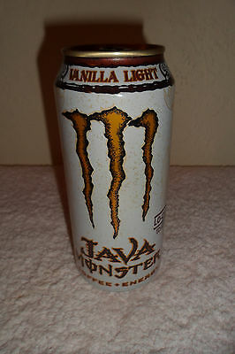 Java Monster Energy Vanilla Light Collectible 16oz. Can Coffee New Designer