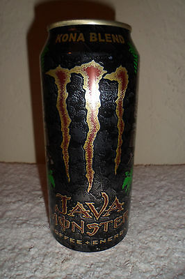 Java Monster Kona Blend Energy Collectible 16oz Can Design Advertising Drink