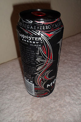 Monster Energy Ultra Black 16oz Collectible Can Design Advertising Black