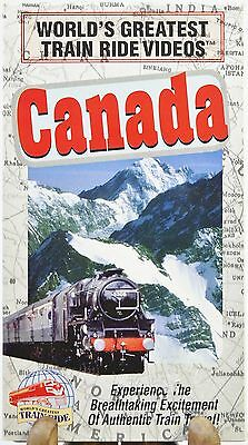 Worlds Greatest Train Ride Video CANADA Railroad Tour VHS Amazing Footage