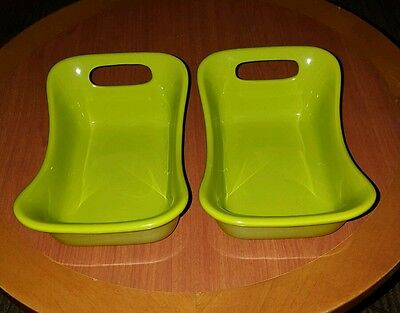 Set of 2 Rachel Ray 12oz  Lime Green Baking Dishes