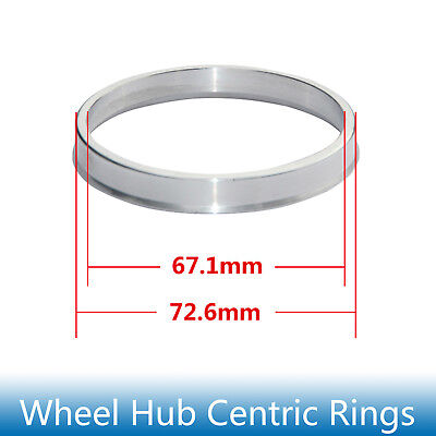 4pcs Hub Centric Rings 72.6mm to 67.1mm Alloy Aluminum Hubrings