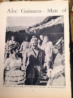 K3-8 Ephemera 1950s Article The Many Faces Of Actor Alec Guinness