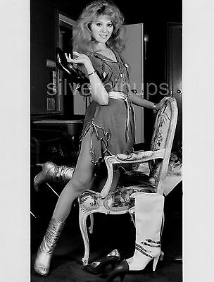 Orig 1985 AUDREY LANDERS Leggy.. Shoe Fetish PIN-UP Portrait!