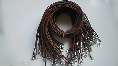 Hot sell Wholesale Bulk lot 20pcs brown Suede Leather 20 inch Necklace Cords