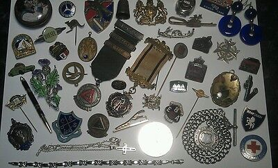 Joblot antique collectables  solid silver  items and other vintage collectables