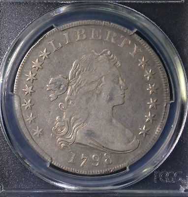 1798 $1 Draped Bust Large Eagle Dollar PCGS VF 25 81954847