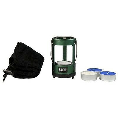 UCO A-LTN-KIT Mini Candle Lantern Kit Green w/Tealight Candles