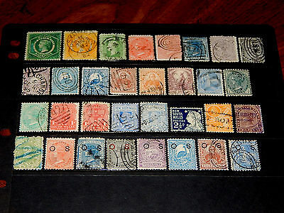New South Wales stamps - 32 mint hinged and used early stamps - great group !!