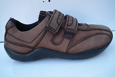 Hotter Comfort Concept Leather Velcro Brown/Beige Casual  Shoes Size UK 7 EUR 40