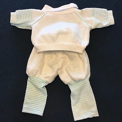"""2 Piece Cabbage Patch Doll Clothes - Blue / White Knit - For 16"""" Doll"""