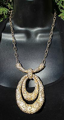 Vintage Mid Century Modern Brutalist Chunky Gold Toned Necklace