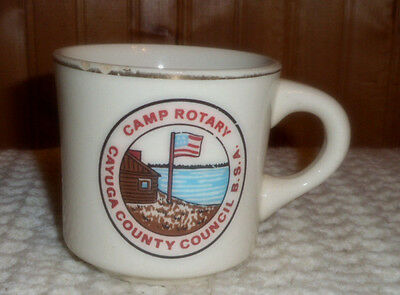 Vintage Bsa  Boy Scout Camp Rotary Cayuga County Council B.s.a. Coffee Cup