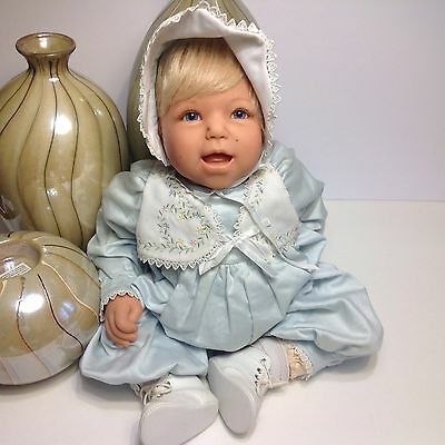 "Lee Middleton Reva Schick BABY BOY DOLL, 1997, ORIGINAL, 21"" WEIGHTED,  EXTRAS"