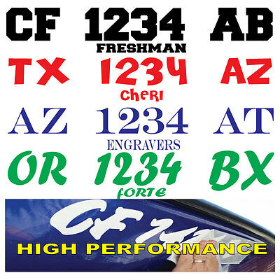 Boat Registration Numbers Lettering Decals Vinyl PWC Lettering (2Sets) USCG