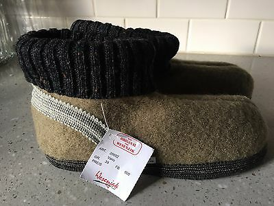 WESENJAK Boiled Wool Slippers CHINO/OLIVE for Women and Men CHOOSE YOUR SIZE