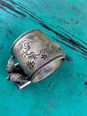 double eagle napkin ring holder silver plate middletown