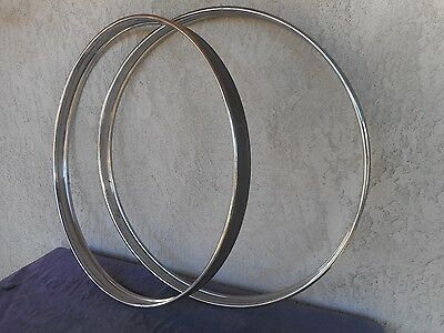 Ludwig Metal Bass Drum Hoops ~ Circa 1980's vintage