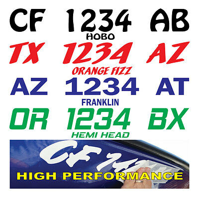 Boat Registration Numbers Lettering Decals Vinyl PWC Lettering (2Sets) Graphics