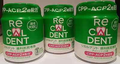Recaldent CPP-ACP 2 - Chewing Gum Mint Flavour x 3 Packs - FREE SHIPPING
