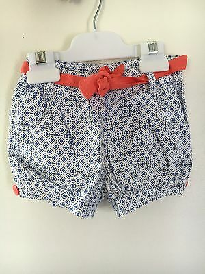 Cute Girls Cotton Summer Shorts Sprout Size 1