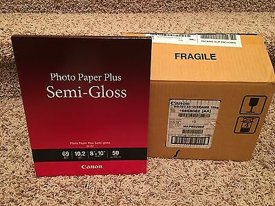 Case Of CANON Photo Paper Plus Semi-Gloss, 8x10, 69 lbs., 500 Total Sheets